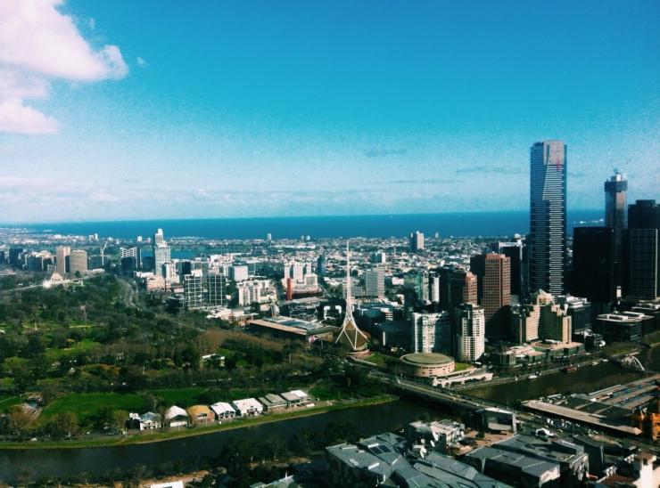 Melbourne's CBD.
